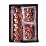 Joint Free Leak Proof Diamond Copper Water Bottle For Home / Office / Traveling 1Ltr