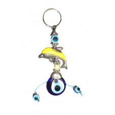 Evil Eye Dolphin Keychain Hanging
