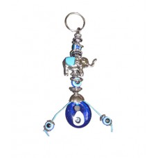 Evil Eye Elephant key Ring