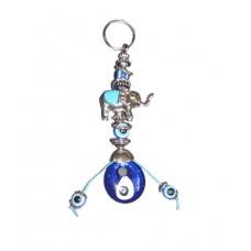 Evil Eye Elephant Keychain Hanging