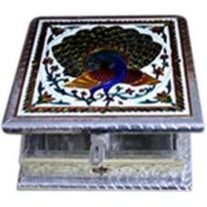 Dry Fruit Box -Square-I (Meenakari)