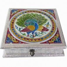 Dry Fruit Box-Square-II (Meenakari)