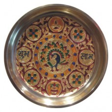 Golden Meenakari Pooja / Shagun Thali - S